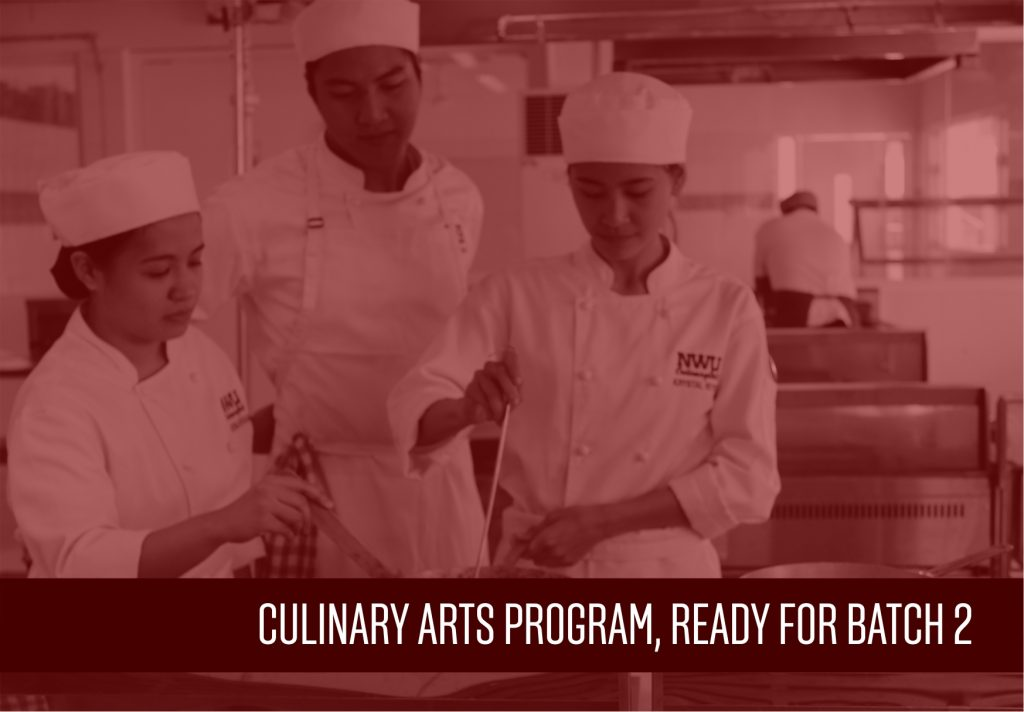 Enrollment Ongoing for Batch 2 of Culinary Arts Program