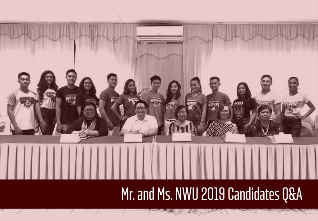 Mr. and Ms. NWU 2019 Candidates have a Q&A with School Administrators